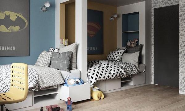 Deco: Είκοσι ιδέες για παιδικό δωμάτιο που μοιράζονται δύο αδέλφια (pics)