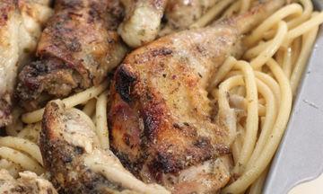 Κοτόπουλο ριγανάτο με χοντρά μακαρόνια - Πιο νόστιμο δεν έχετε φτιάξει ποτέ ξανά