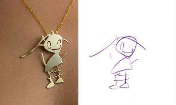 Παιδικές ζωγραφιές μετατρέπονται σε υπέροχα κοσμήματα (pics)