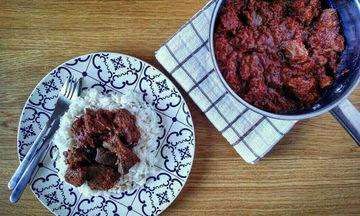 Συνταγή για νόστιμο συκώτι κοκκινιστό με ρύζι