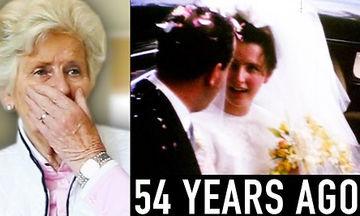 Βλέπει μετά από 54 χρόνια το χαμένο βίντεο του γάμου της και μένει άφωνη από τη συγκίνηση (vid)