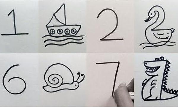 Πώς θα μάθει ένα παιδί να ζωγραφίζει: Μετατρέψτε τους αριθμούς σε υπέροχες  ζωγραφιές (vid) - Mothersblog.gr