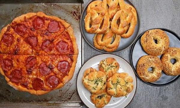 Ζύμη για πίτσα (και όχι μόνο) με 2 υλικά (vid)