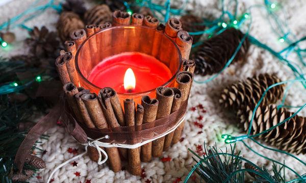 Διακοσμήστε μόνες σας κεριά με ξυλαράκια κανέλας (vid)