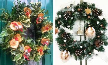 Είκοσι μοναδικά χριστουγεννιάτικα στεφάνια για την πόρτα και όχι μόνο (pics+vid)