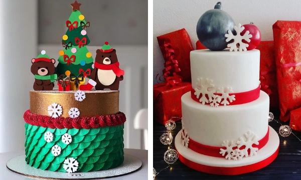 Χριστουγεννιάτικες ιδέες για να διακοσμήσετε τούρτες γενεθλίων και γλυκά (pics + vid)