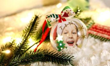 Φτιάξτε την πιο εντυπωσιακή Χριστουγεννιάτικη μπάλα με τη φωτογραφία του παιδιού σας (pics+vid)