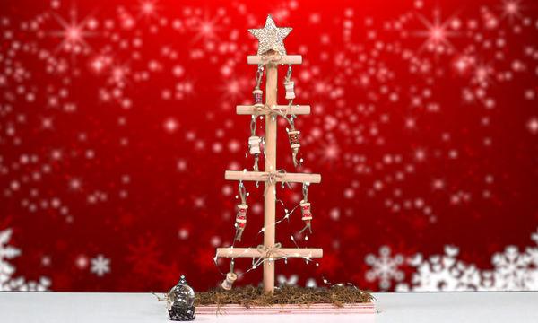 DIY: Φτιάξτε μόνες σας ξύλινο χριστουγεννιάτικο δέντρο (vid)