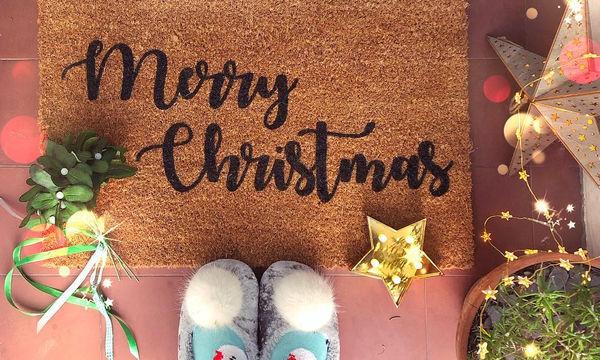 Καλωσορίστε τους καλεσμένους σας με γιορτινά χαλάκια εισόδου! (pics)