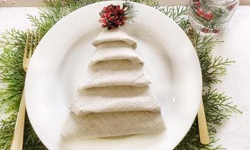 Είκοσι όμορφες ιδέες για να διπλώσετε τις πετσέτες για το χριστουγεννιάτικο τραπέζι (pics+vid)