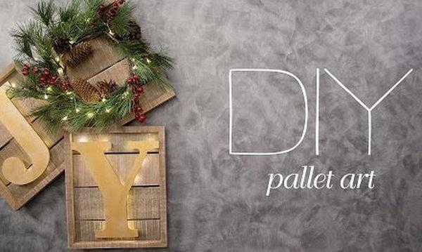 Φτιάξτε το πιο φωτεινό χριστουγεννιάτικο δώρο από παλέτες (vid)