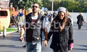 Θα μας τρελάνει ο Τανιμανίδης- Η βόλτα με την Μπόμπα και το... κοντομάνικο μπλουζάκι! (pics)