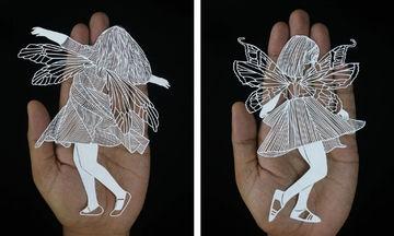 Δείτε τι κάνει με μια κόλλα χαρτί και ένα κοπίδι (pics)