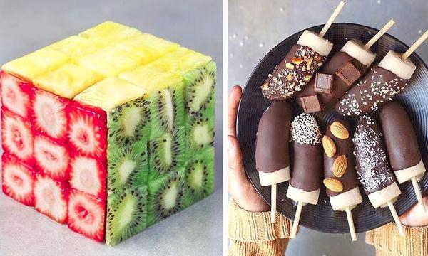 Εύκολες συνταγές για γλυκά με λίγα υλικά και εντυπωσιακοί τρόποι διακόσμησης (vid)