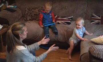 Δείτε ποια είναι η αντίδραση του μωρού όταν κάνει τα πρώτα του βήματα (vid)