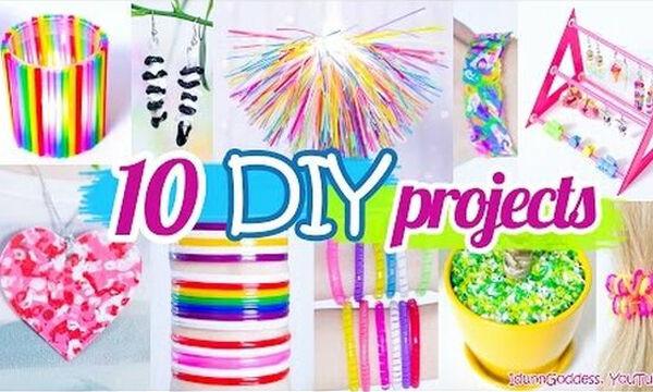 10 απίθανες κατασκευές για παιδιά από πλαστικά καλαμάκια (vid)