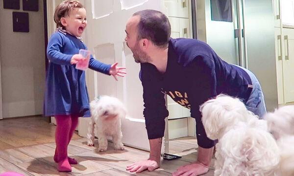 Οι απίθανες αντιδράσεις παιδιών όταν ο μπαμπάς επιστρέφει στο σπίτι (vid)