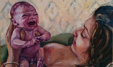 Πίνακες ζωγραφικής που υμνούν τη μητρότητα με ρεαλιστικό τρόπο (pics)
