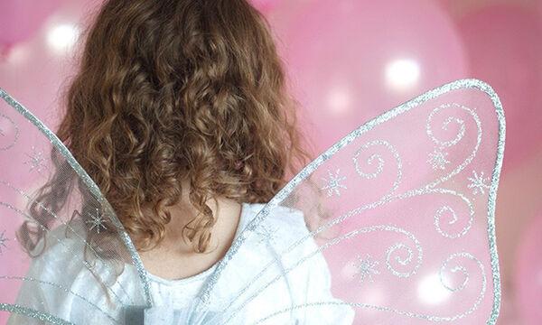Αποκριάτικα αξεσουάρ για κορίτσια: Φτερά νεράιδας ασημί με θήκη