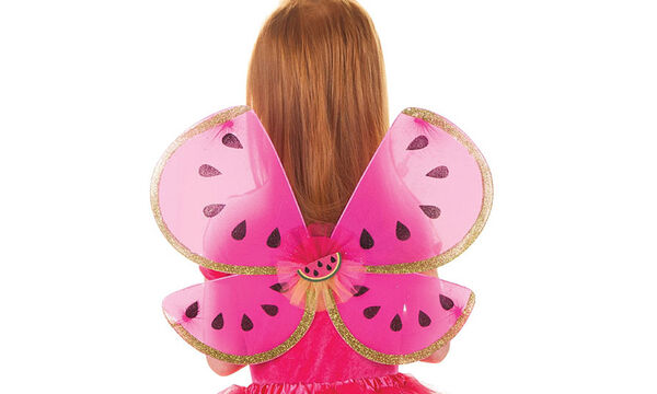 Αποκριάτικη στολή για κορίτσια: Φούστα τούτου με φτερά καρπούζι!