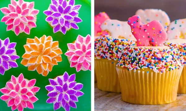 Δώδεκα εντυπωσιακοί τρόποι για να διακοσμήσετε τα cupcakes (vid)