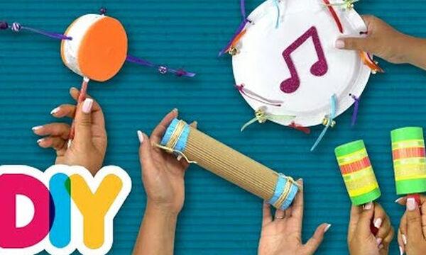 Κατασκευάστε μουσικά όργανα μαζί με τα παιδιά και φτιάξτε τη δική σας μπάντα! (vid)