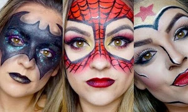 Σούπερ ήρωες: 3 ιδέες αποκριάτικου face painting για σούπερ μαμάδες! (vid)