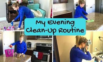 Βραδινή ρουτίνα καθαριότητας: Τι μπορείτε να κάνετε όταν τα παιδιά πάνε για ύπνο (vid)