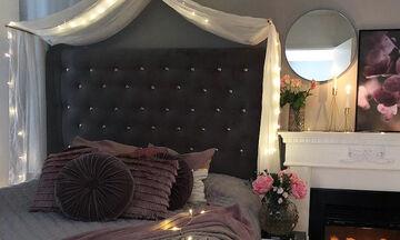 Αυτή είναι η πιο ωραία ιδέα για να διακοσμήσεις το υπνοδωμάτιο με φωτάκια