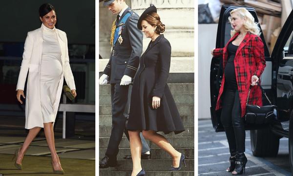 Ψηλοτάκουνα στην εγκυμοσύνη: Διάσημες που φόρεσαν τακούνια μέχρι τον 9ο μήνα (pics)