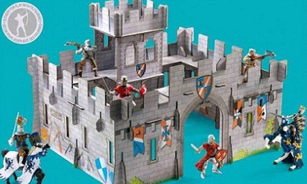 Το πιο εντυπωσιακό τρισδιάστατο μεσαιωνικό κάστρο για τα παιδιά σας είναι από χαρτί!