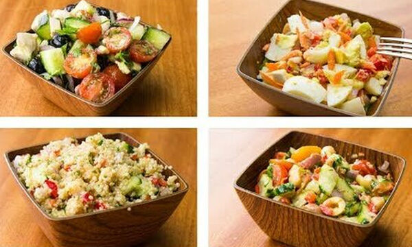 Σαλάτες για δίαιτα: 4 υγιεινές συνταγές για να χάσετε εύκολα βάρος (vid)