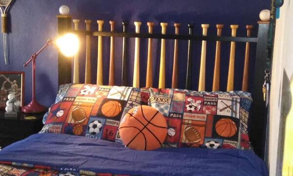 Εφηβικό δωμάτιο: Διακόσμηση με θέμα τον αθλητισμό (pics)