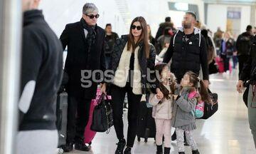 Τσιμτσιλή-Σοφός: Στο αεροδρόμιο με τις κόρες τους