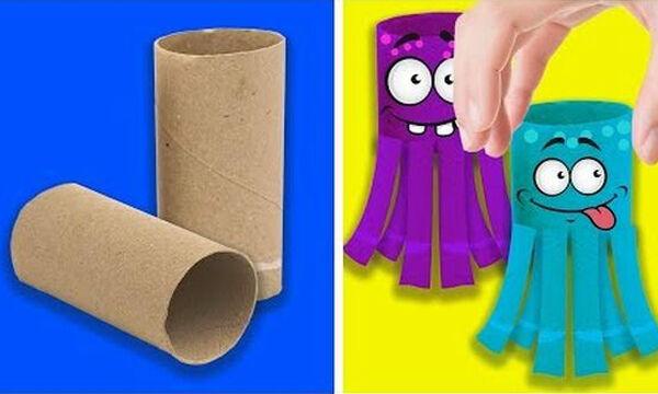 Φτιάξτε παιδικά παιχνίδια από ανακυκλώσιμα υλικά (vid)