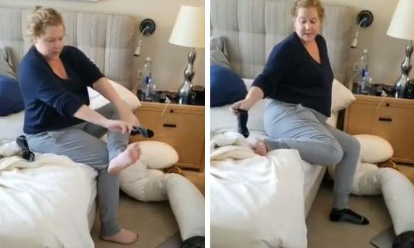 Πώς βάζει μια έγκυος τις κάλτσες της; Δείτε το ξεκαρδιστικό βίντεο της Amy Schumer (vid)