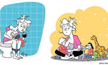 Οι δυσκολίες της μητρότητας μέσα από εξαιρετικά σκίτσα (pics)