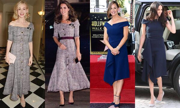 Διάσημες αντιγράφουν το ντύσιμο της Kate Middleton και της Meghan Markle; Δείτε φωτογραφίες (vid)