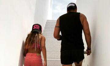 Γνωστός ηθοποιός κάνει τραμπολίνο μαζί με την κόρη του (pics)