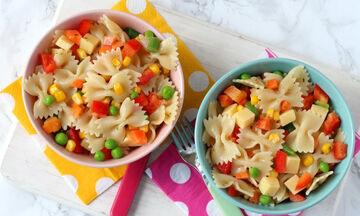 Σαλάτα ζυμαρικών με λαχανικά - Ιδανική για παιδιά (vid)