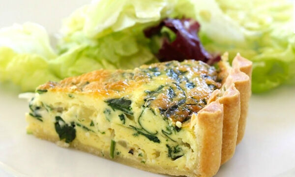 Αλμυρή τάρτα με λαχανικά και τυριά - Δοκιμάστε την! (vid)