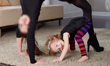 Διάσημη μαμά κάνει γιόγκα με τα παιδιά της - Μαντεύετε ποια είναι; (vid)