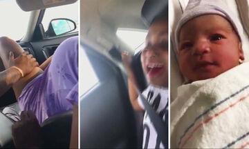 Απίστευτο! Γέννησε στο αυτοκίνητο και ο γιος της απαθανάτισε τη στιγμή (vid)