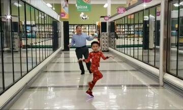 Συγκινητικό: Το βράδυ πριν το χειρουργείο ζήτησε να χορέψει με τον παππού του στο σουπερμάρκετ (vid)