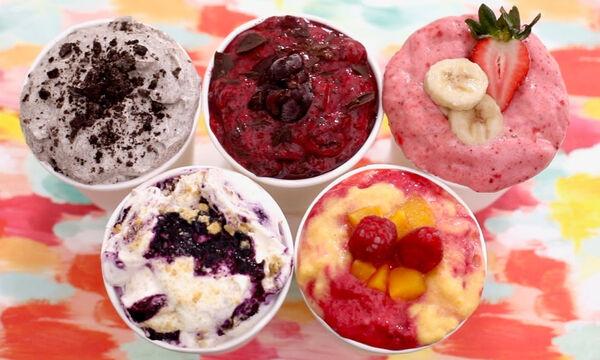 Σπιτικό frozen yogurt έτοιμο σε πέντε λεπτά (vid)