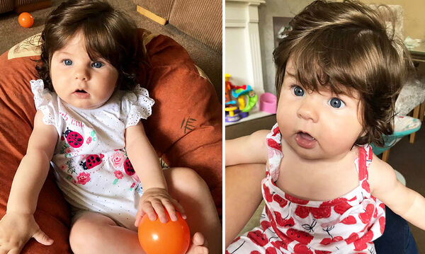 Είναι μόλις 5 μηνών και τα μαλλιά της φτάνουν στον ώμο - Το σχόλιο της μαμάς της που ξάφνιασε (pics)