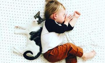 17 φωτογραφίες που αποδεικνύουν ότι οι γάτες είναι το τέλειο κατοικίδιο για μωρά (pics)