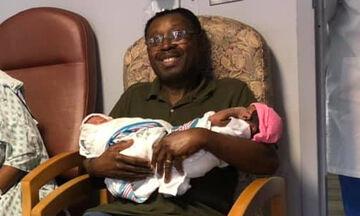 Κι όμως συνέβη! Αδερφές γέννησαν με λίγες ώρες διαφορά ανήμερα των γενεθλίων του μπαμπά τους (pics)