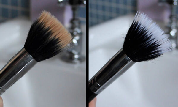 Αυτός είναι ο πιο εύκολος & οικονομικός τρόπος για να καθαρίσετε τα πινέλα του μακιγιάζ (vid)