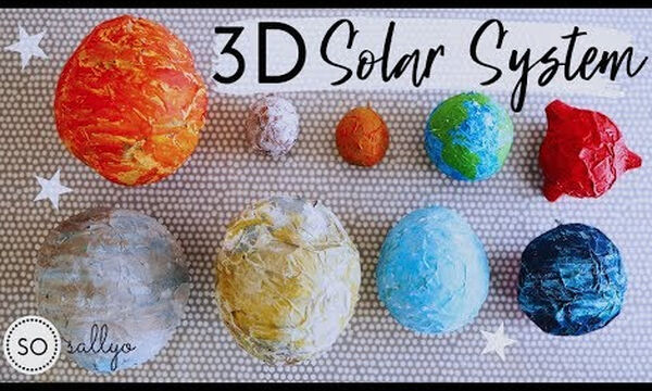 Χειροτεχνία με πλανήτες από χαρτί - Μία κατασκευή που θα λατρέψει κάθε παιδί (vid)